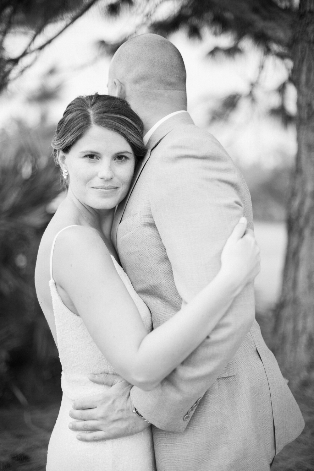 Outdoor wedding portrait of bride and groom in Port St. Lucie, FL