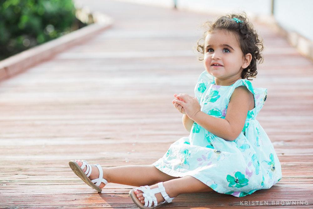portrait of girl on dock downtown stuart