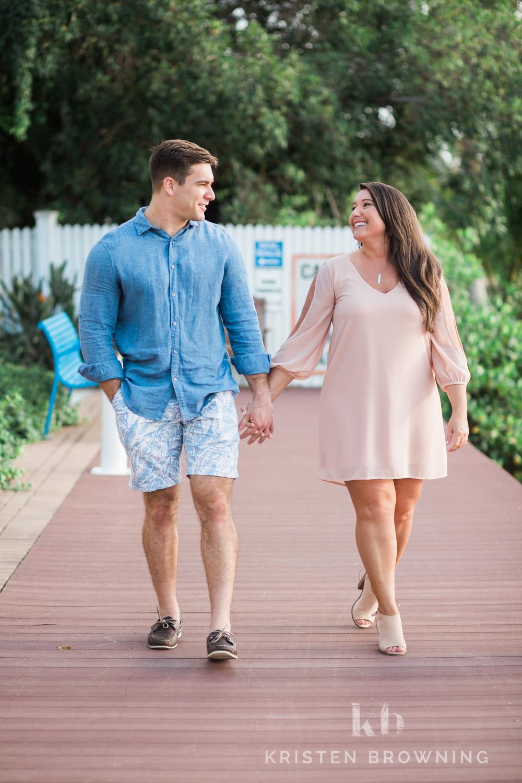 Engagement photos in Downtown Stuart
