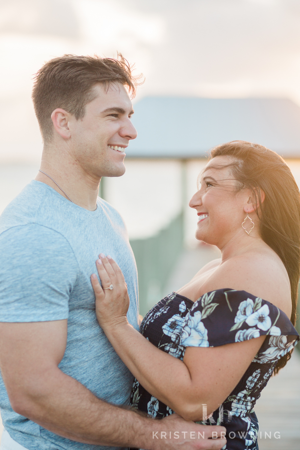Engagement photos at sunset in Florida