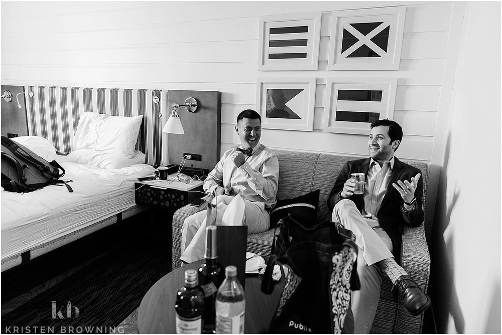 Hutchinson Shores Resort and Spa groom preparation
