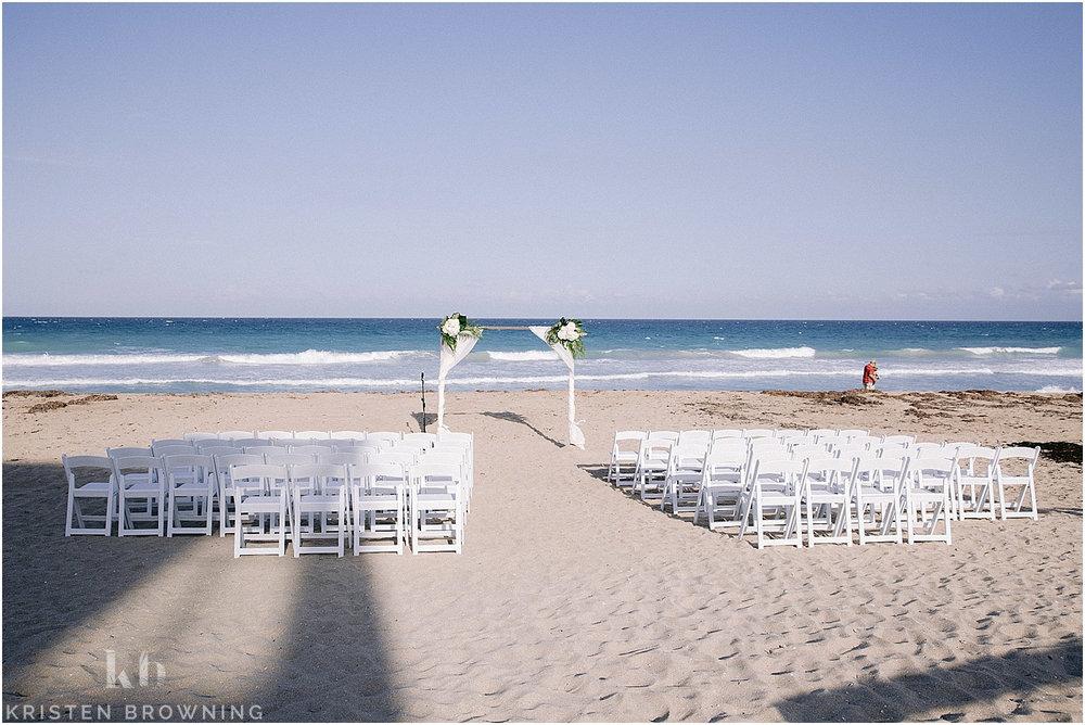 Hutchinson Shores Resort and Spa beach ceremony