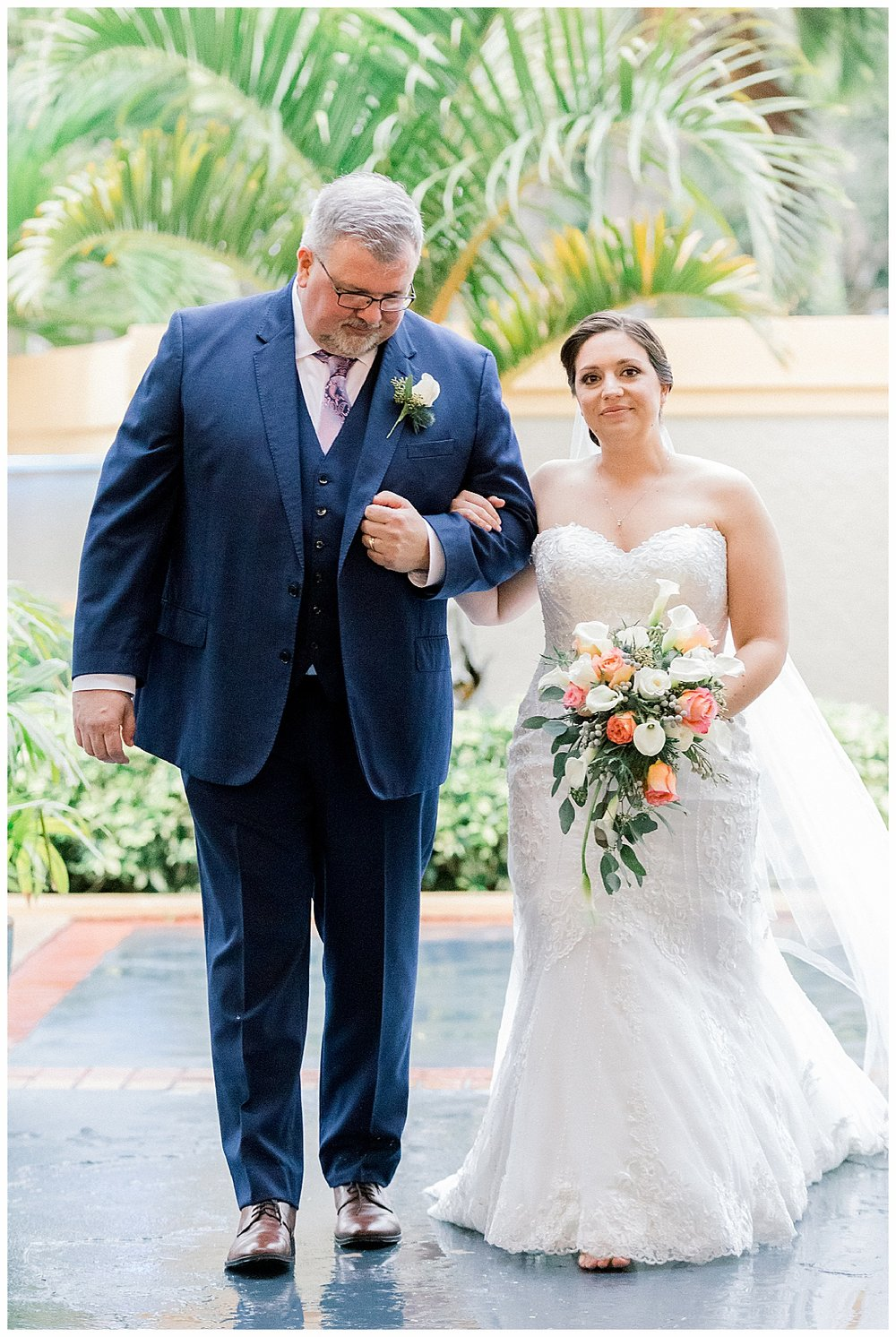 Bride walking down aisle Hutchinson Island Marriott