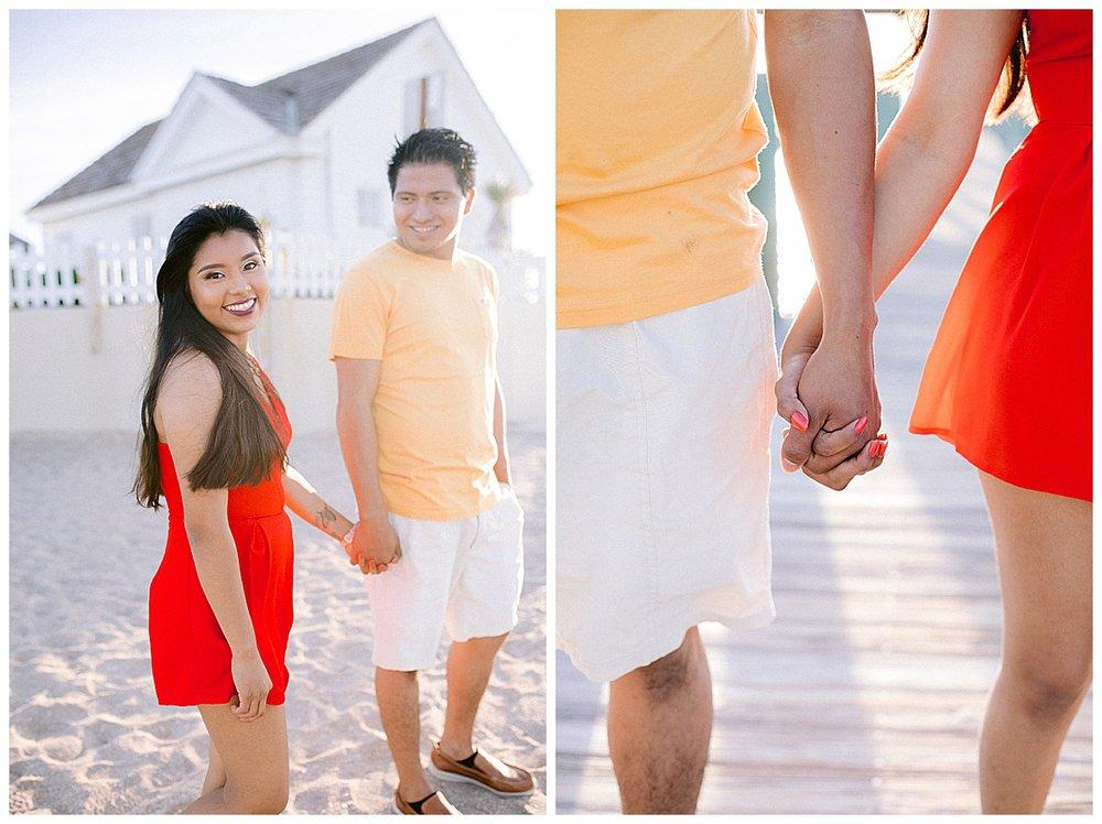 Engagement photos taken on Hutchinson Island, FL