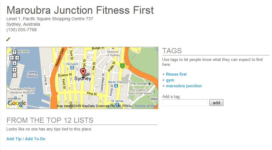 Fitness First, Maroubra Junction