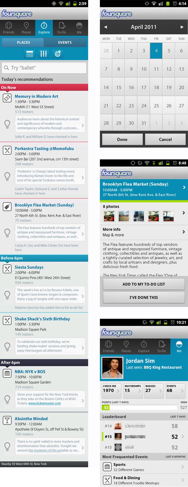 Foursquare Explore Feature - Designed by Jordan Sim