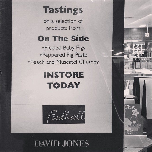 Tastings at Bondi Junction are going off! We'll be here until 2pm - come say hi! #ontheside