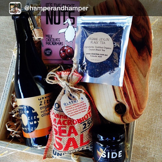 We love a good hamper - especially one with a little bit of On The Side lovin'! Repost from @hamperandhamper: Custom Hamper going out #foodhampers #giftboxes #gifthampers #birthdayhamper #family #food #hamperandhamper #hampers #organic #local #australianmade @cleantea
