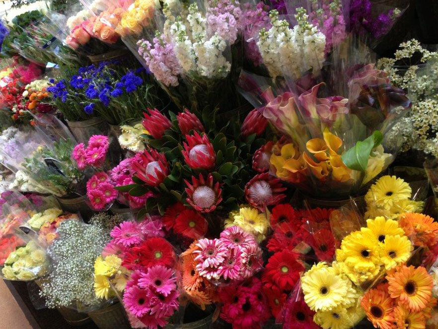 Fresh flowers at Flowermart shop