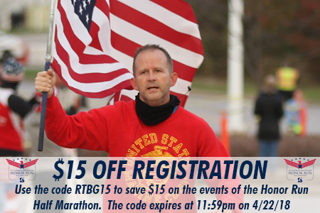 Save $15 on the Honor Run Half Marathon!