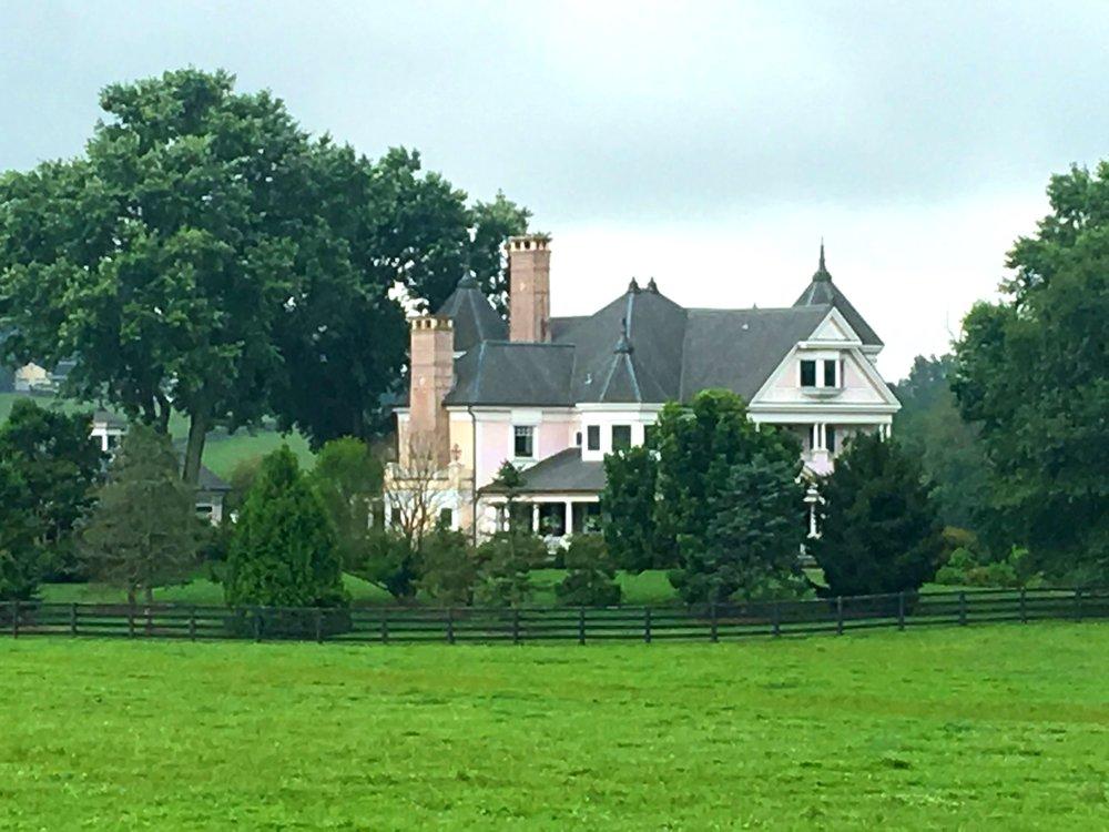 Dede McGehee's home at Heaven Trees Farm.