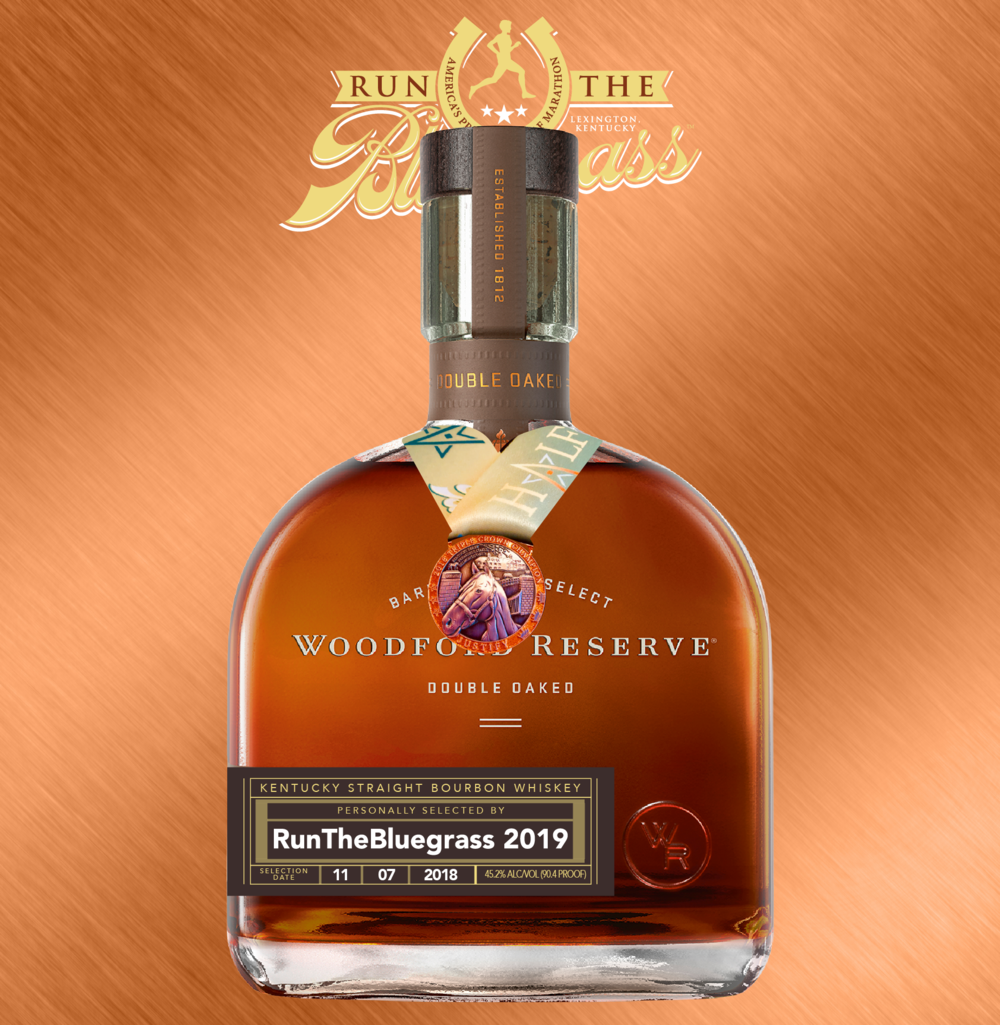 2019's Woodford Reserve Double Oaked Single Barrel, honoring Justify.   Aged eleven months longer in a second, lightly toasted oak barrel, the extra layers of caramel and vanilla notes wow your tastebuds!  750mL size bottles.