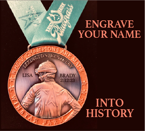 Engrave your name on your Finisher Medal at our 2019 Finish Line!  Only $15!