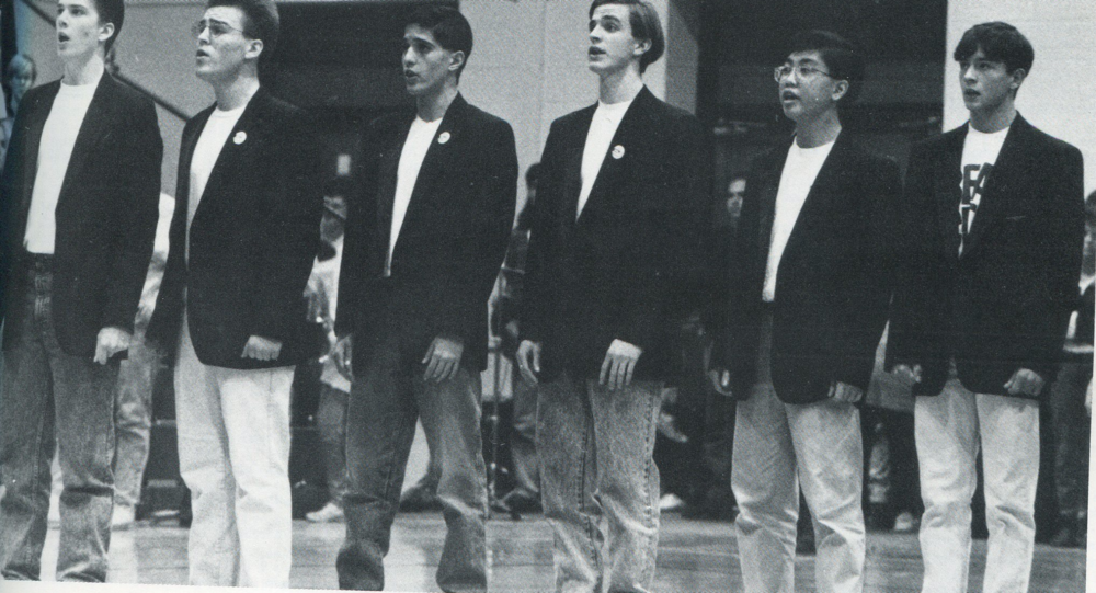 1991 Choir Performance at Basketball Game
