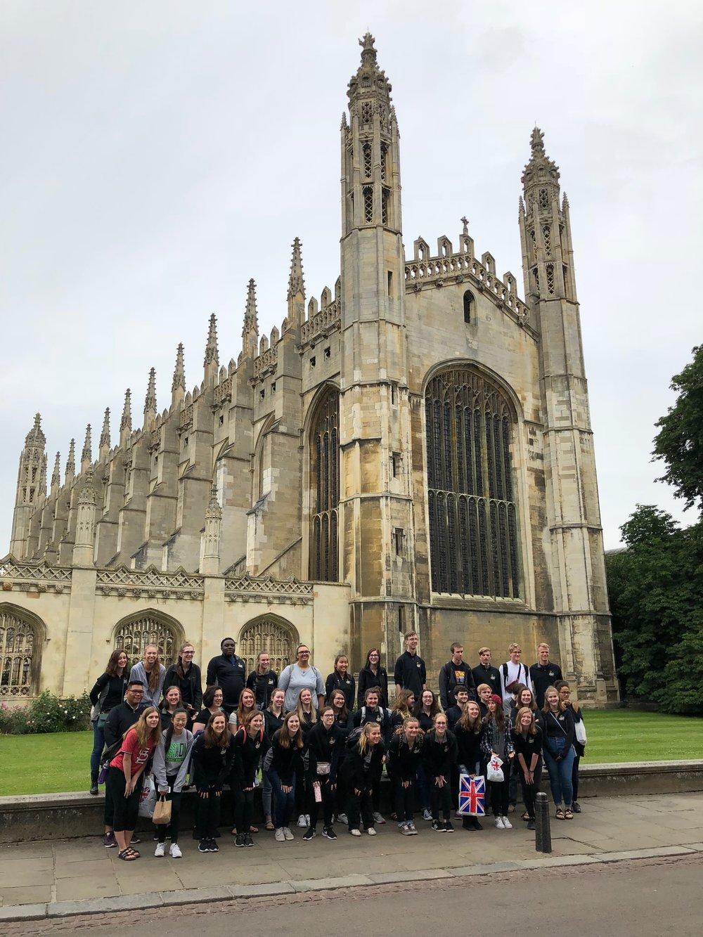 Iowa City West International Choir 2018, England and Ireland King's College Chapel, Cambridge