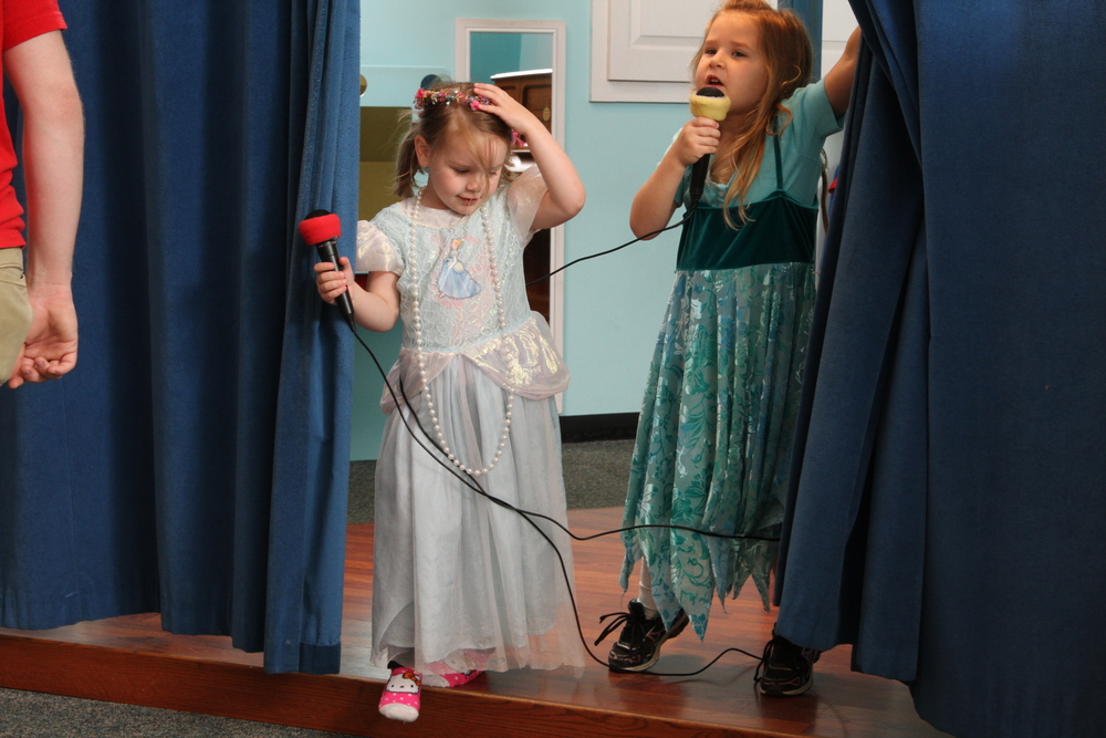 THEATER  Lights, camera, action! Dress up in a costume, grab a microphone and put on a show.    Funded and maintained by a grant from the Wendel Fund of the Fairfield County Foundation.