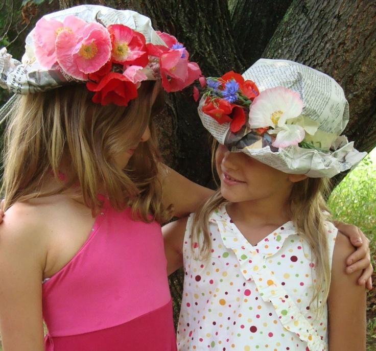 Шляпы из бумаги для девочек