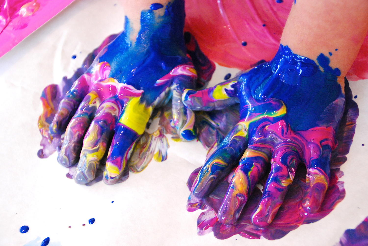 Image result for messy paint