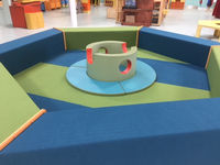 PLOP ZONE (24 Months and under)  Cozy hexagon shaped area for babies and toddlers to crawl, climb and explore.   Sponsored by Pediatric Associates of Lancaster, Inc.