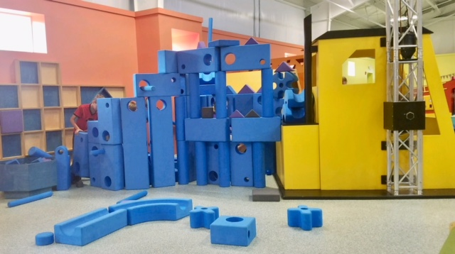 BIG BLUE BLOCKS  Imagination Playground Big Blue Blocks  inspire children to build! From ball runs to forts, loose parts play is fun for all ages.   Sponsored by  the Friel Family
