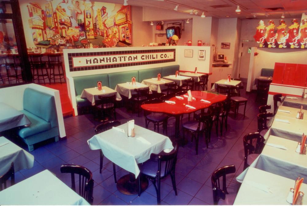 Manhattan Chili Co. at 43rd Street and Broadway, circa 1995