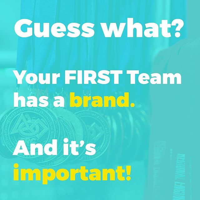 Branding is exactly what your team needs to succeed and stand out. Comment below and ask why. #frcnation #omgrobots