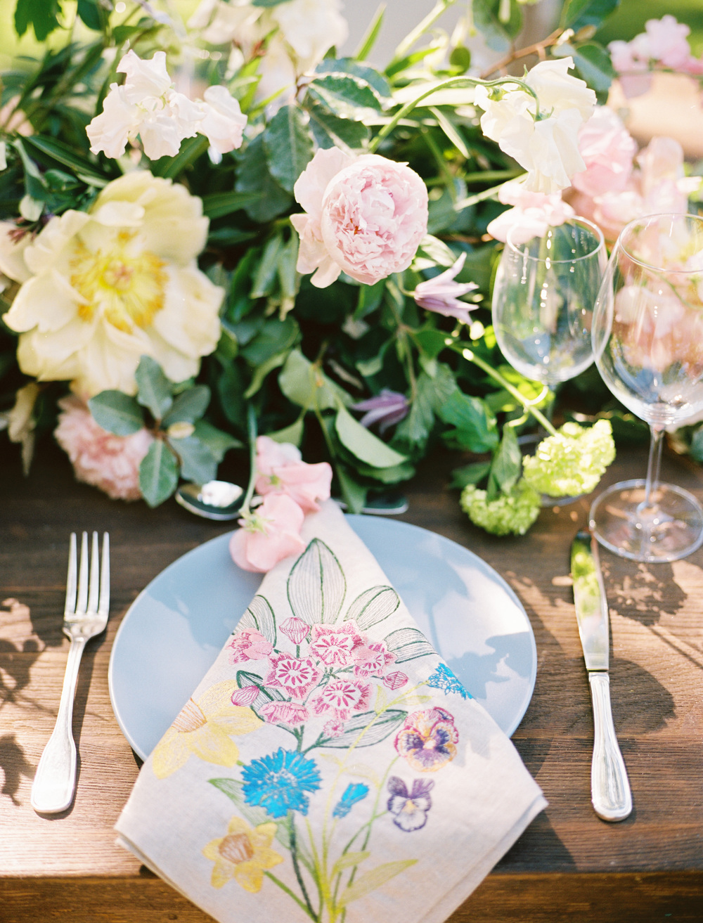 elegant texas garden wedding farm table inspiration from The Wildflowers | follow us on instagram: @ thewildflowers.events