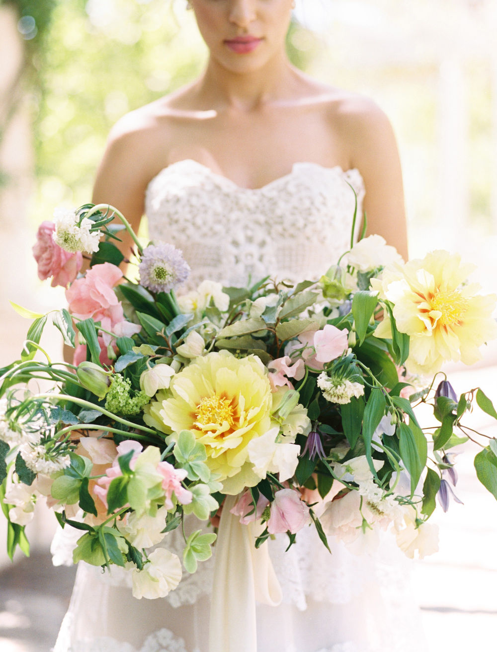 elegant texas garden wedding peony bouquet inspiration from The Wildflowers | follow us on instagram: @ thewildflowers.events