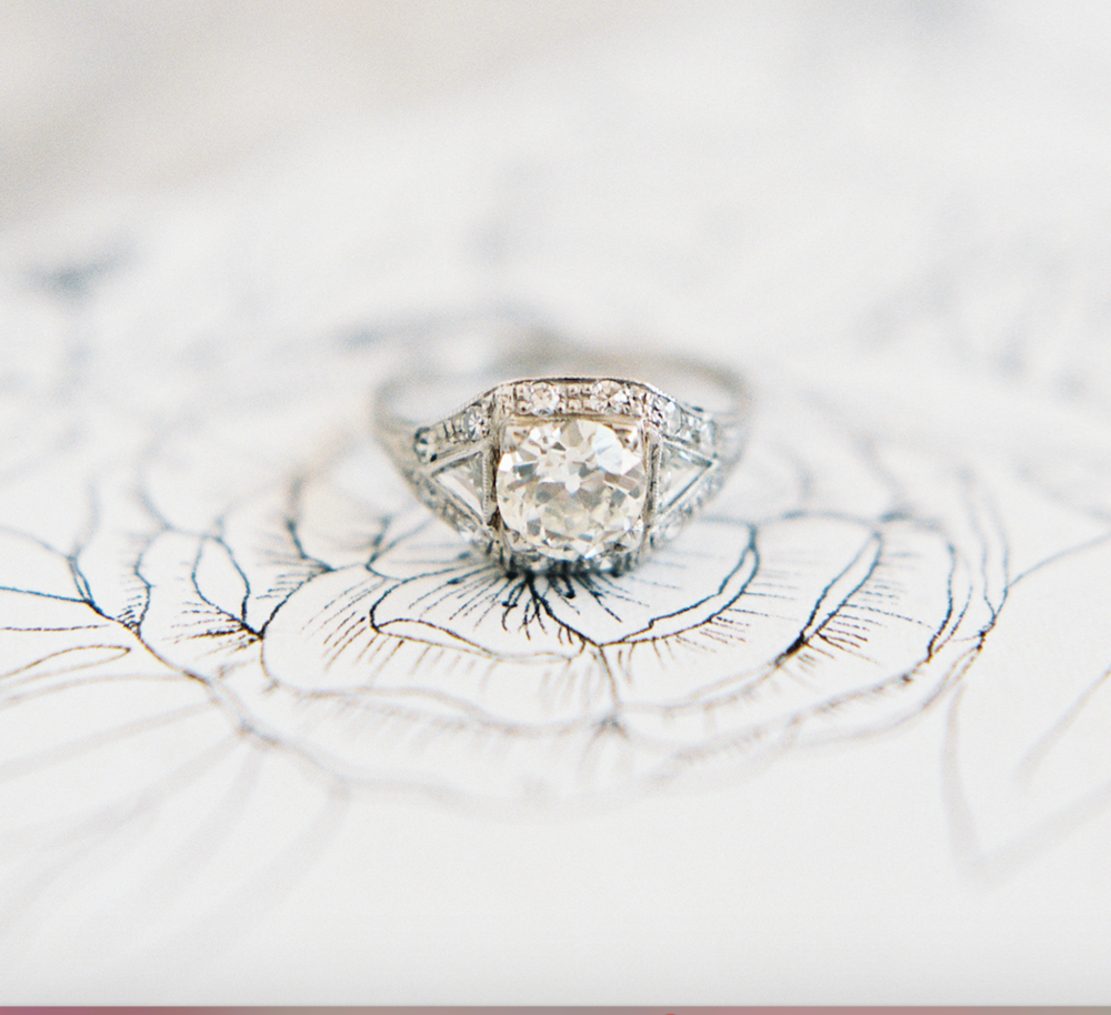 How To Shop Vintage: Engagement Rings and Wedding Gowns