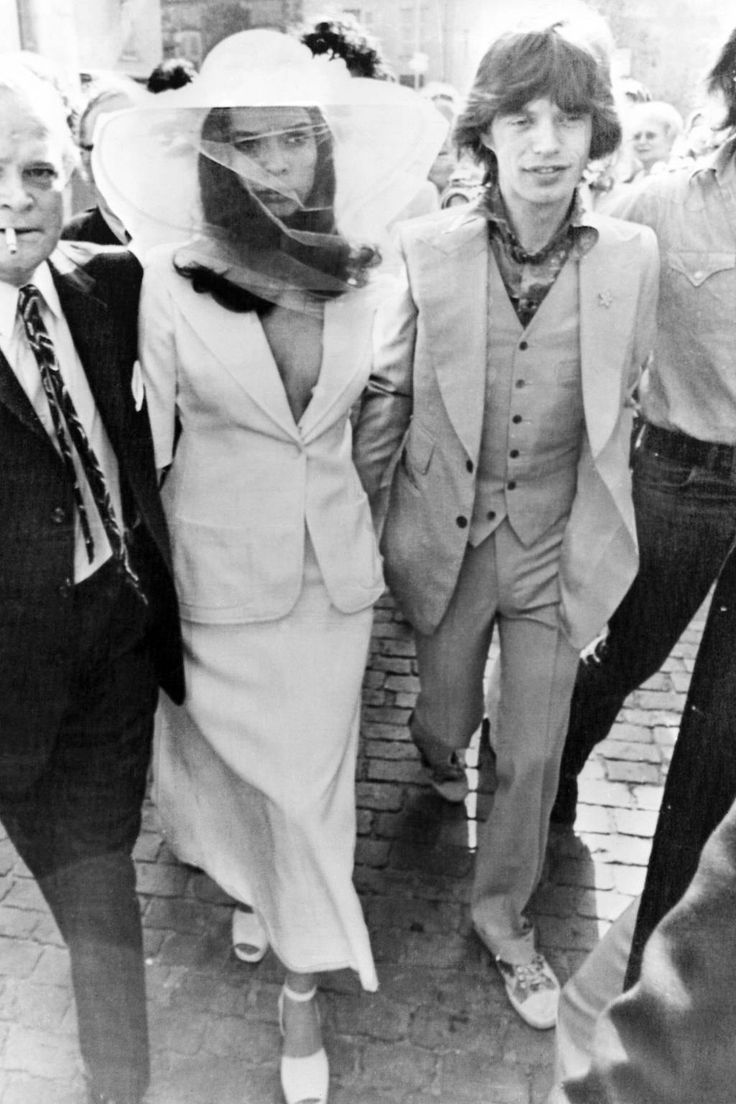 Bianca and Mick Jagger, fashion icons of the 1970s | follow along on Instagram @ thewildflowers.events