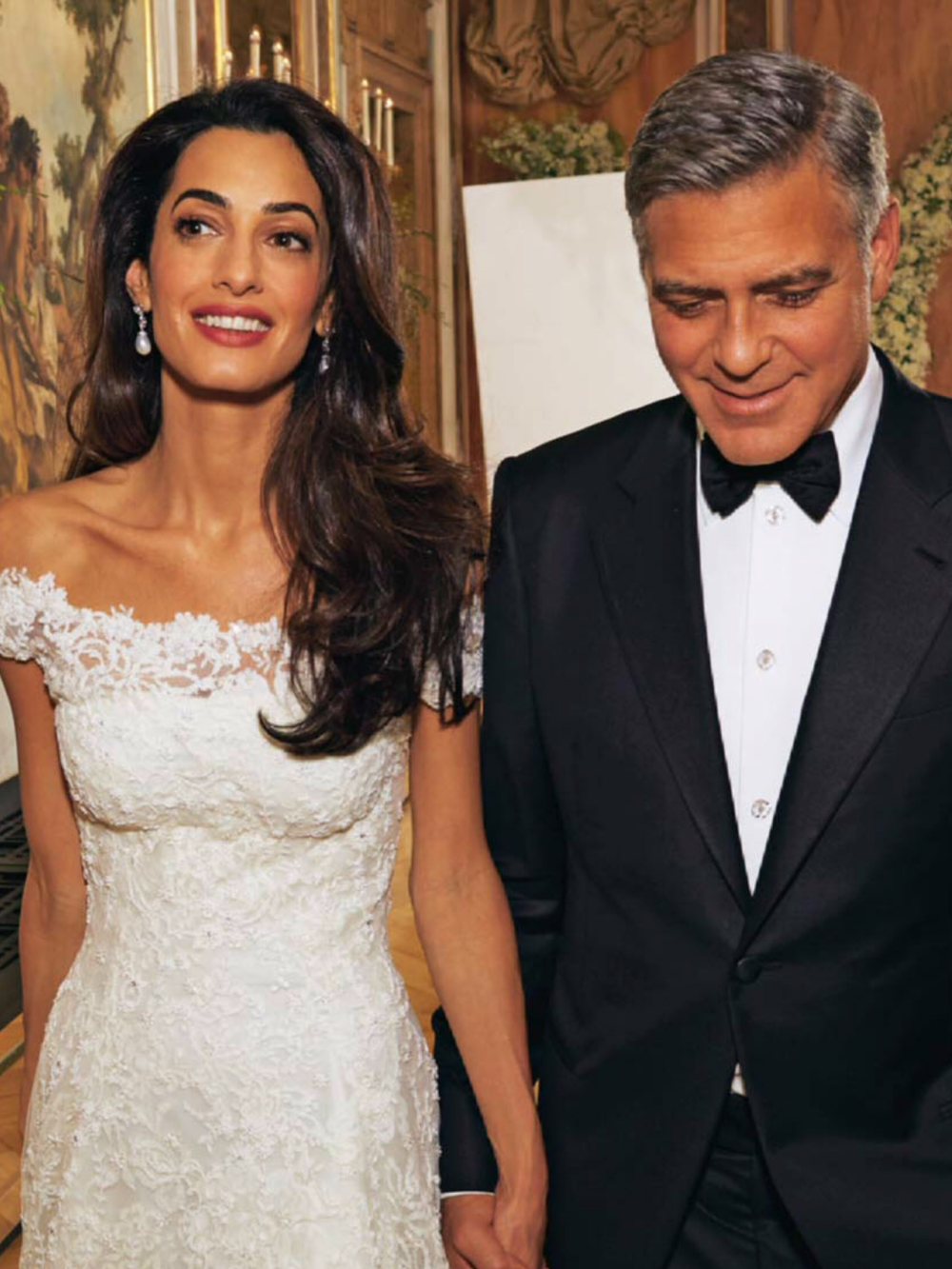 Amal and George Clooney at their 2014 Italian wedding | follow along on Instagram @ thewildflowers.events