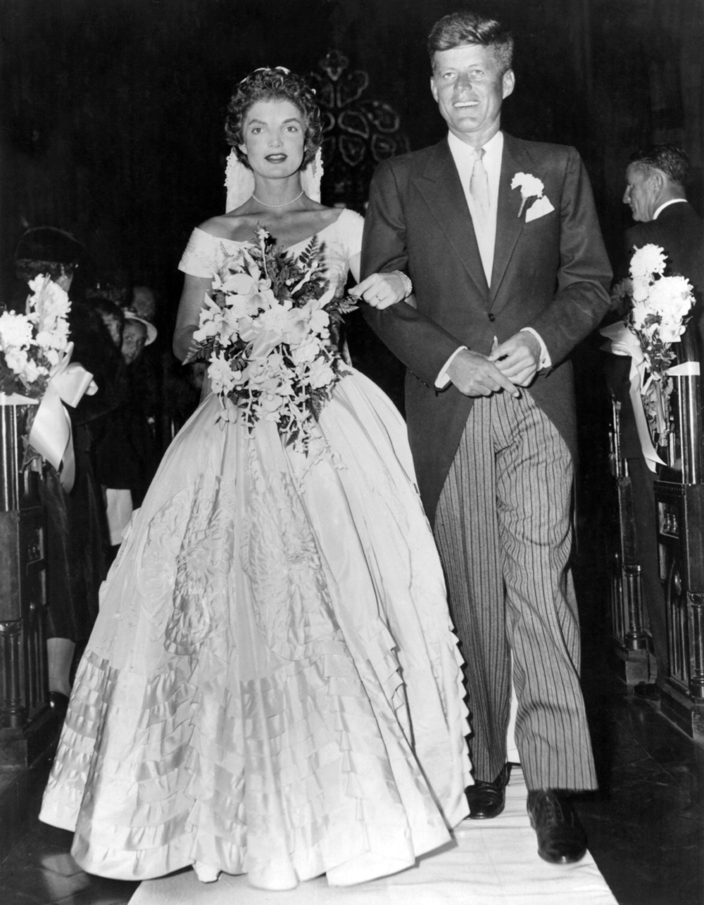 Jackie O and JFK's legendary wedding featured a heavily embellished gown | follow along on Instagram @ thewildflowers.events