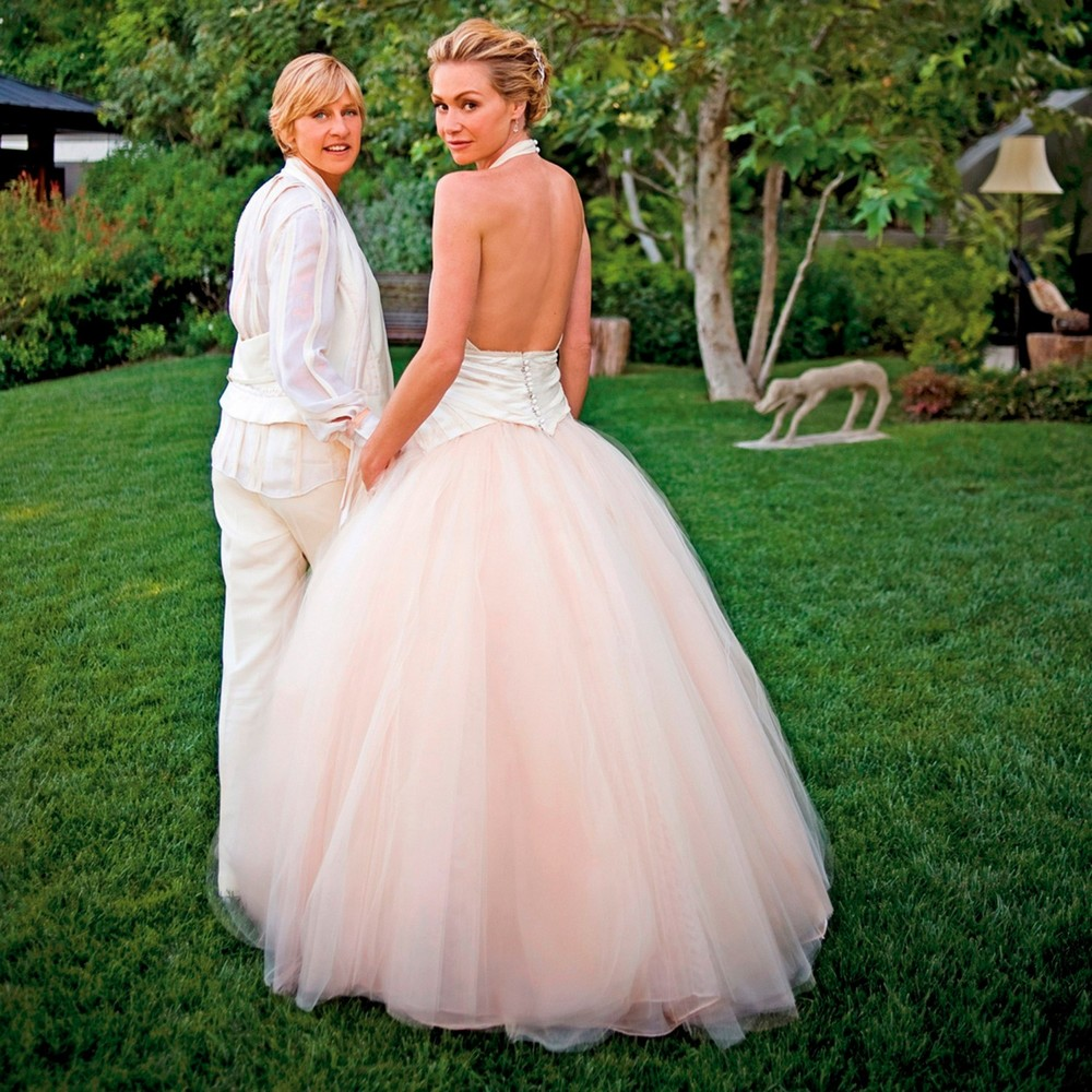 Ellen and Portia's dreamy 2008 wedding in Beverly Hills | follow along on Instagram @ thewildflowers.events