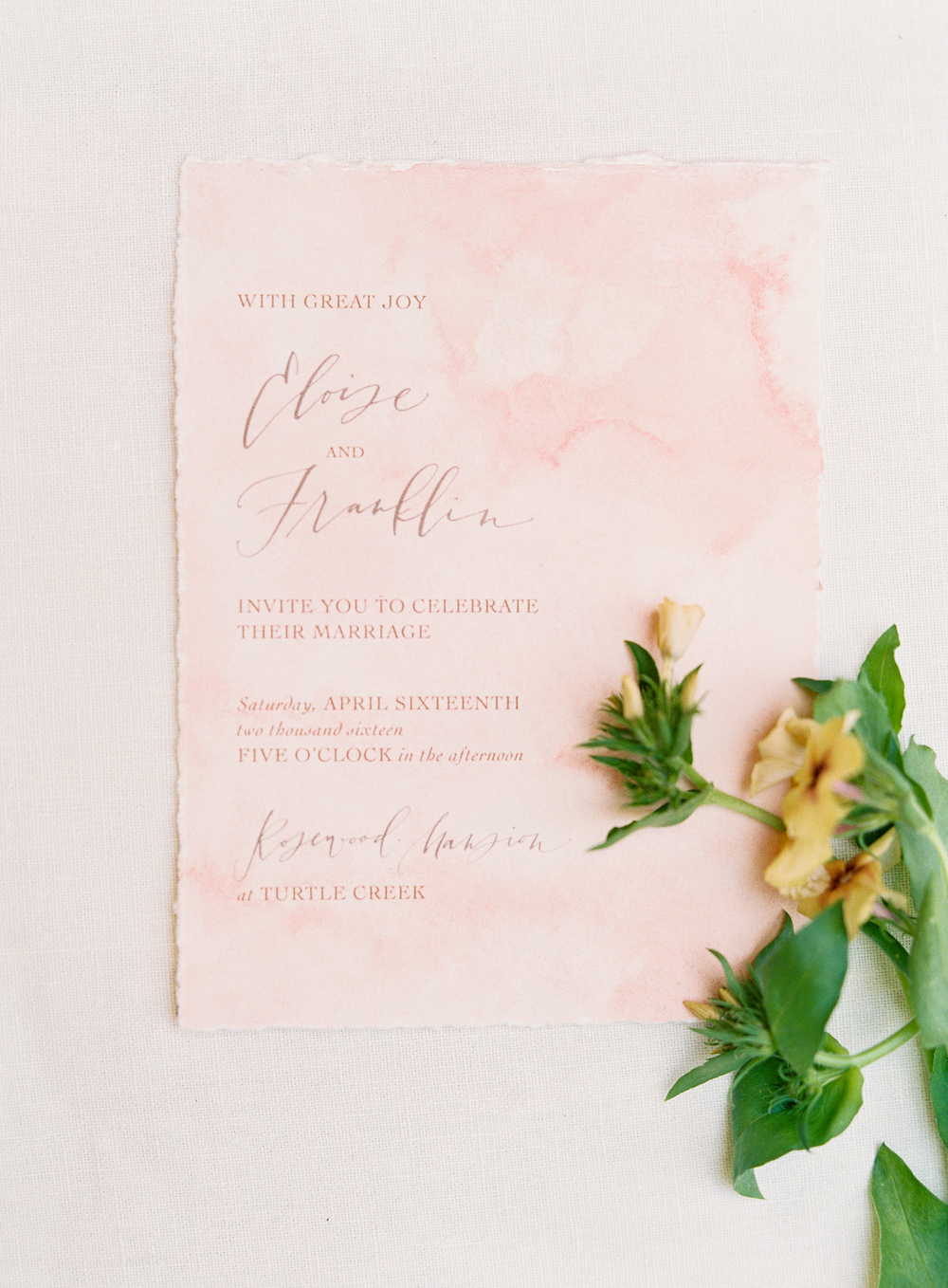 wedding menu paper goods | terracotta pink wedding inspiration designed by The Wildflowers | follow us on instagram: @ thewildflowers.events