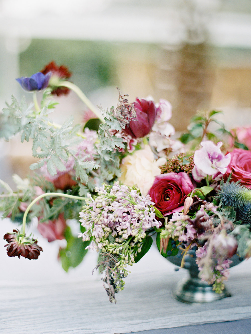Florals droop in an unexpected but lovely way. | The Wildflowers featured on Martha Stewart Weddings | Instagram: @ thewildflowers_com | www.thewildflowers.com