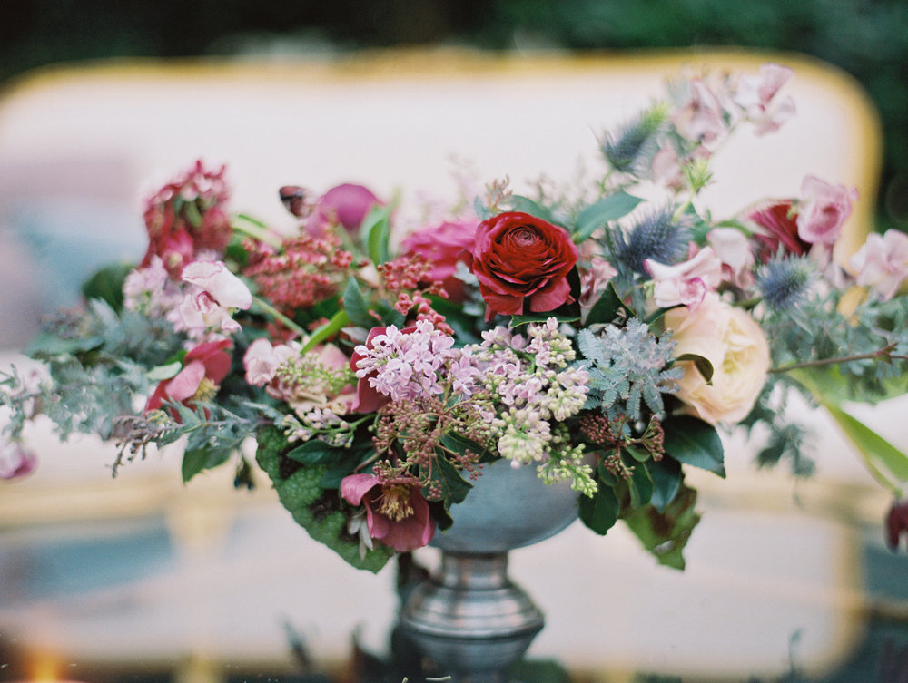 A stand-alone arrangement encapsulates this dusty, romantic palette.. | The Wildflowers featured on Martha Stewart Weddings | Instagram: @ thewildflowers_com | www.thewildflowers.com