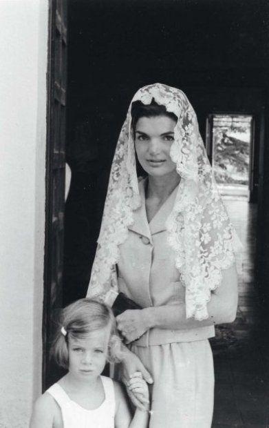 Mantillas were a favorite of Jackie Kennedy's.