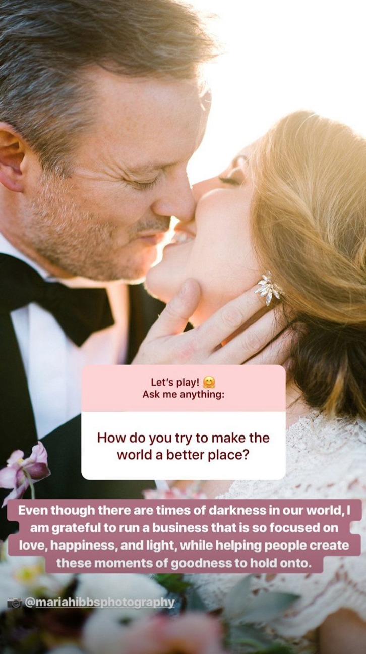dallas texas wedding planner the wildflowers instagram story Q&A question sticker