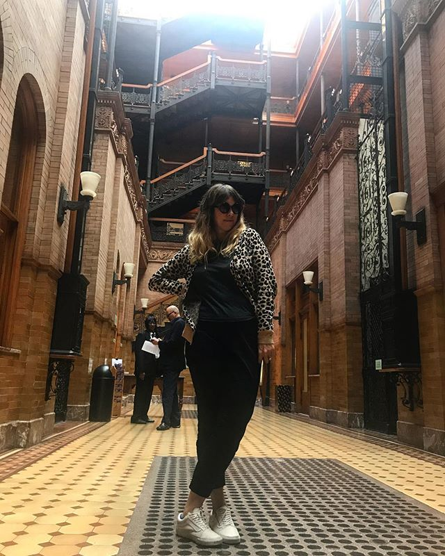 Me & the security @thebradburybuilding today! Thanks @emailduh for the 📷 Love seeing homies in #dtla ❤️