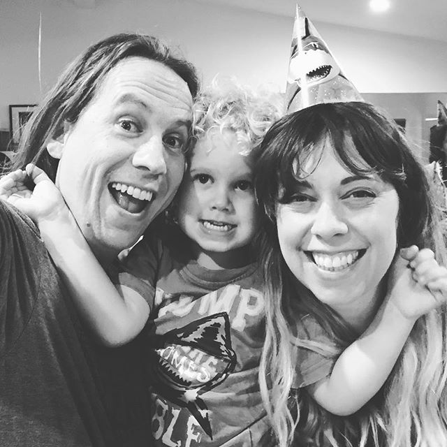 Shark Party 2. This time he's 4. Was a hit! 🦈 we 💙 you, @ryderjohnrandall 🦈 Thanks to everyone that celebrated with us!