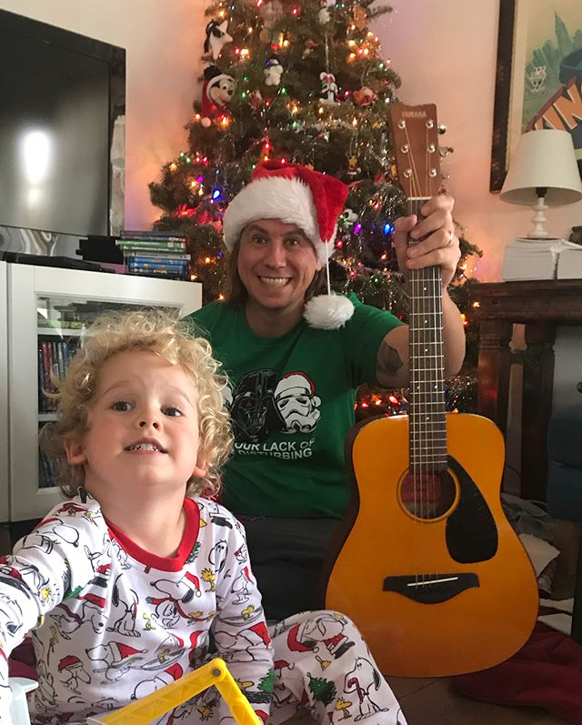 Ryder's 1st guitar! My dad & Randy! Flying drones & all kinds of Christmas fun!!! 🎄✨❤️ Love to all!!! ❤️✨🎁🍪✨