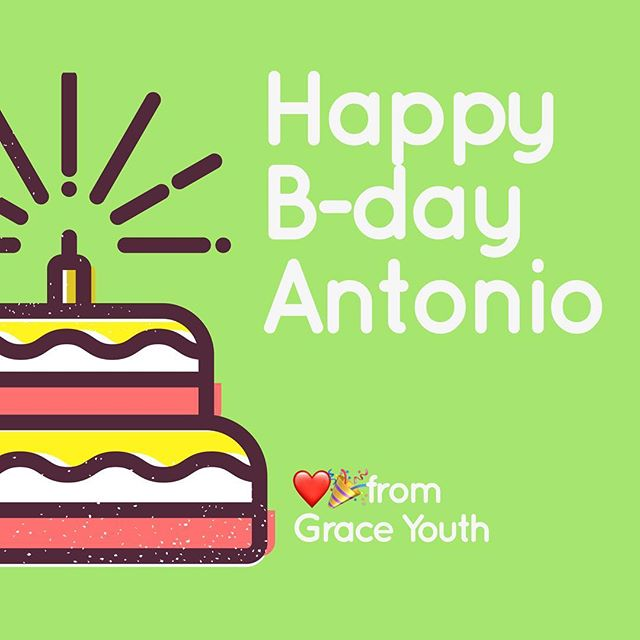 Happy Birthday to @antonio______torres !! We hope you have a great day and party with all your friends!!!❤️🎂 #gpyouth #graceplacey