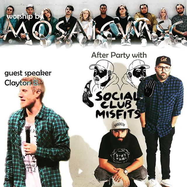 Who's coming tonight?! 🙋‍♂️🙋‍♀️ It's gonna be 🔥🔥@mosaicmsc @socialclubmisfits @deathbymartymar @fernie_sc #saturdayvibes #christianmusic #lightthenight @lifeaustinamp @lifeaustintx