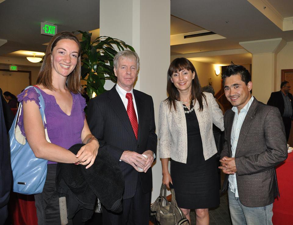 Stanford University  Eva Vander Giessen, Ambassador Crocker, Humaira and Afghan BBC journalist Aref Yaqoubi