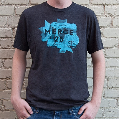 Merge 25 Grey Festival T-shirt