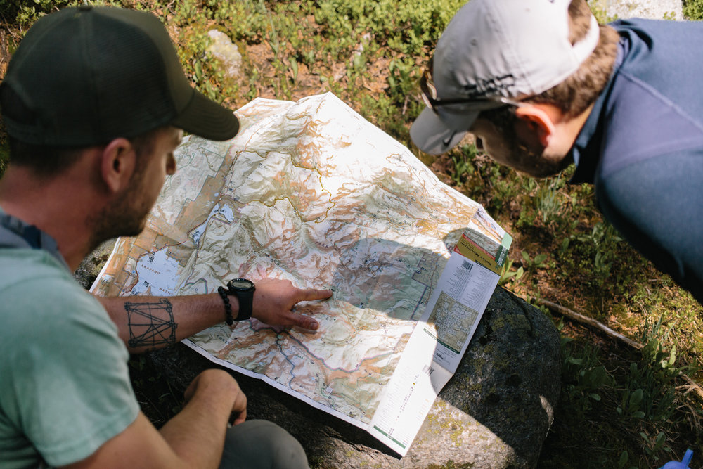 No GPS for us. Just good ol' fashioned maps.