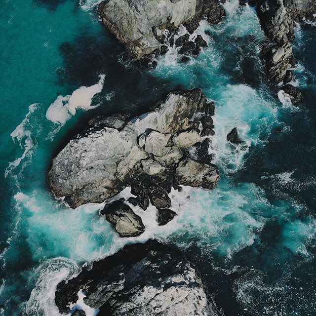 Carmel, CA. . . #dji #mavicair #ocean #viewfromabove #drone #dronestagram #nature