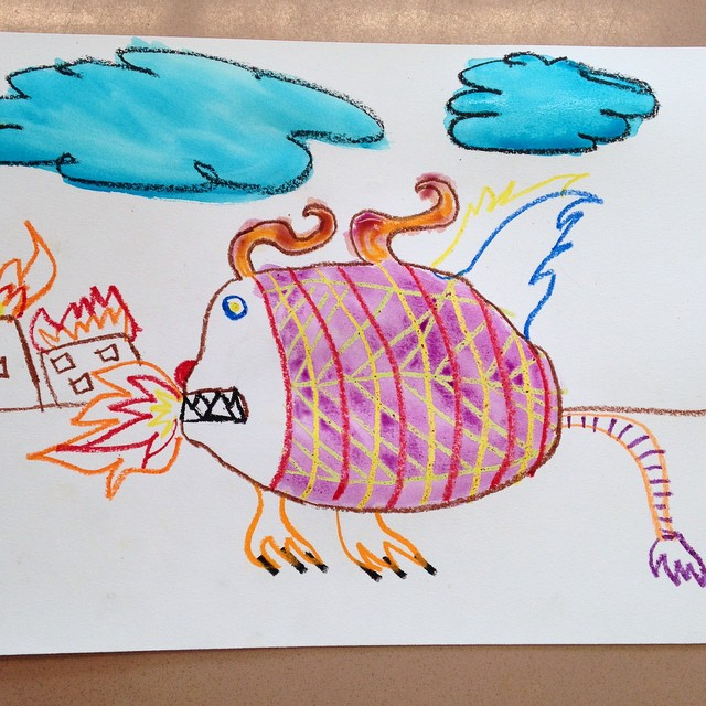 Creature created by PS 282 student in our @citi volunteer collaboration today