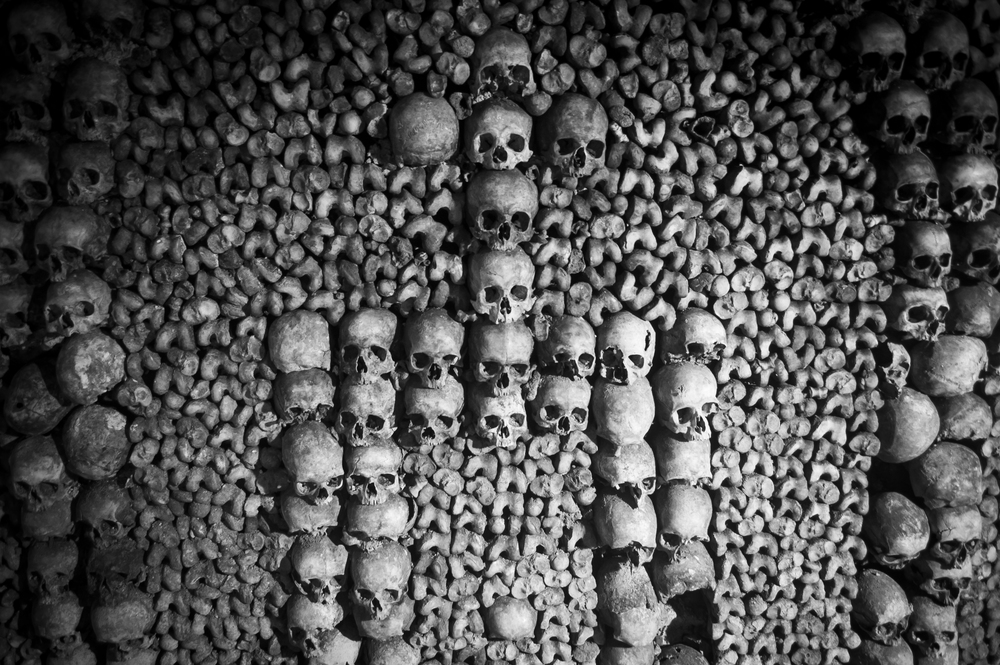 Carefully arranged, bones and skulls line the underground alleys from floor to ceiling through almost 200 miles of dark, winding caves.  It is estimated that the remnants of over 6 Million people are contained within this fascinating tomb of tunnels.