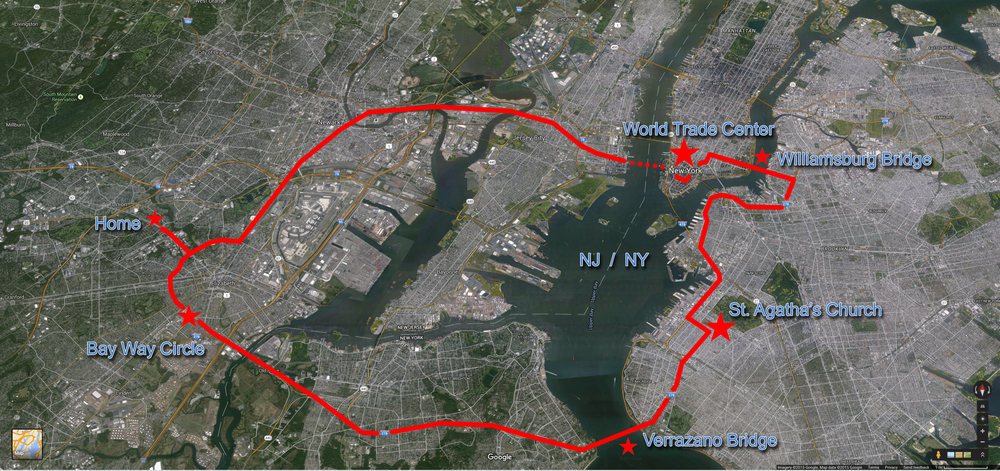 The unpredictable route Jim would travel during the events on 9/11